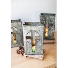 See Details - recycled metal cross luminary
