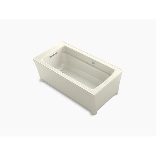 "Biscuit 62"" X 32"" Freestanding Heated Bubblemassage Air Bath"