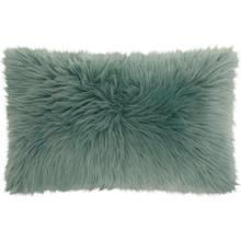 "Fur Fl101 Celadon 14"" X 24"" Throw Pillow"