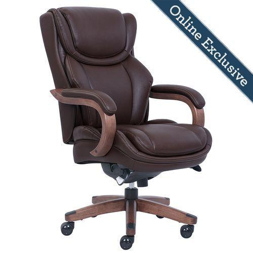 46253b In By La Z Boy In Plainfield Il Harnett Executive Office Chair Brown