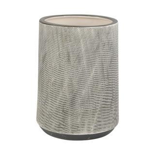 See Details - Woodgrain Planter 9.5in Dark Grey