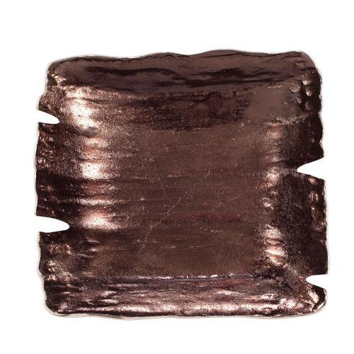 Howard Elliott - Square Smoky Bronze Aluminum Bowl, Small