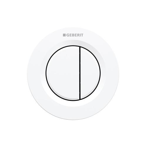 Type 01 Remote flush buttons for Sigma and Omega series in-wall toilet systems Concealed installation, Sigma 2x4 in-wall systems Compatibility Alpine white Finish