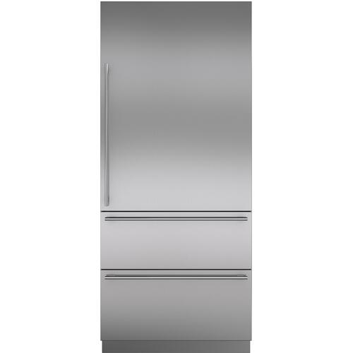 Stainless Steel Door Panel with Tubular Handle - RH