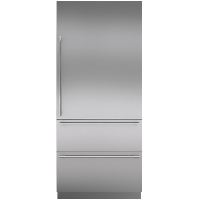 "Stainless Steel 36"" Door Panel with Tubular Handle - RH"