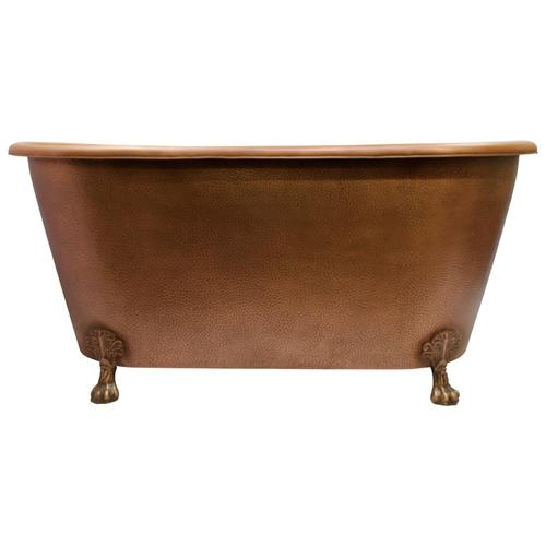 "Panya 68"" Roll Top Copper Tub"