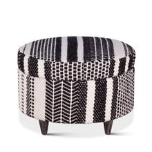 """See Details - Marrakech 24"""" Upholstered Multi-Color Storage Ottoman"""