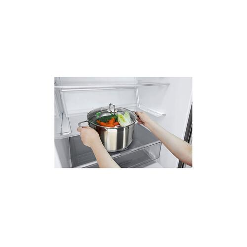 "28"" Counter Depth Bottom Freezer With Door Cooling+ and Flip-up Shelf, 15 CU.FT."