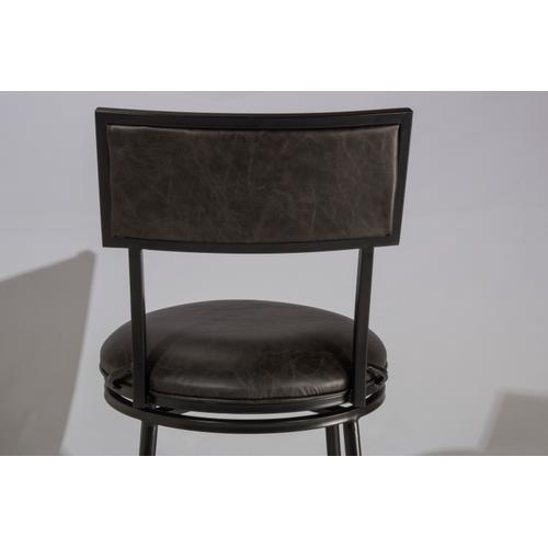 Thielmann Commercial Swivel Bar Stool - Charcoal/charcoal