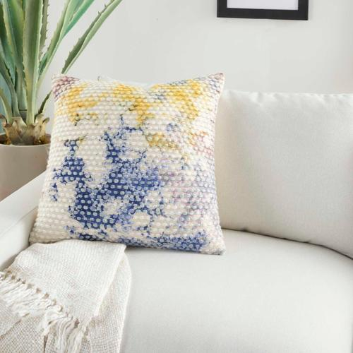 """Life Styles Aq407 Multicolor 22"""" X 22"""" Throw Pillow"""