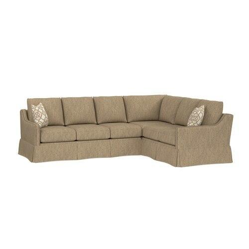 Custom Upholstery L-Shaped Sleeper Sectional