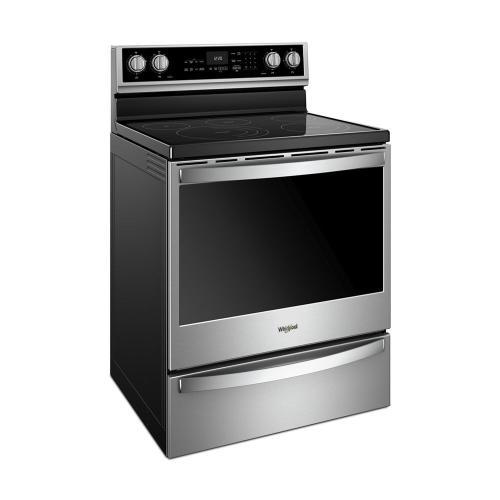 Whirlpool - 6.4 cu. ft. Smart Freestanding Electric Range with Frozen Bake™ Technology