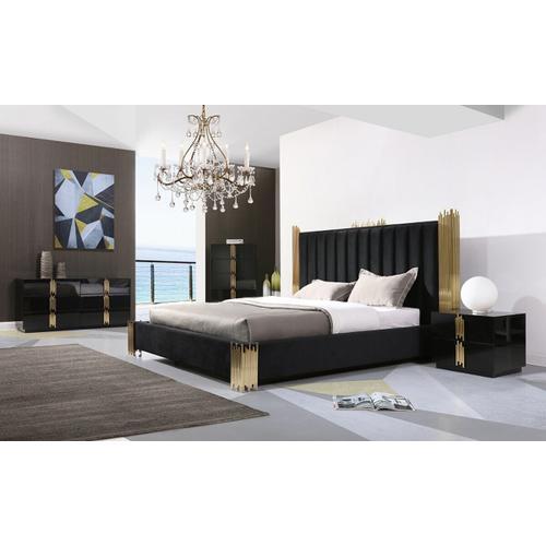 Vgvcbd815set In By Vig Furniture In Neptune Nj Modrest Token Modern Black Gold Bedroom Set