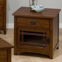 View Product - Square End Table W/ Drawer and Door