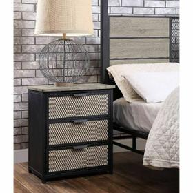 ACME Baara Nightstand - 22043 - Natural & Sandy Gray