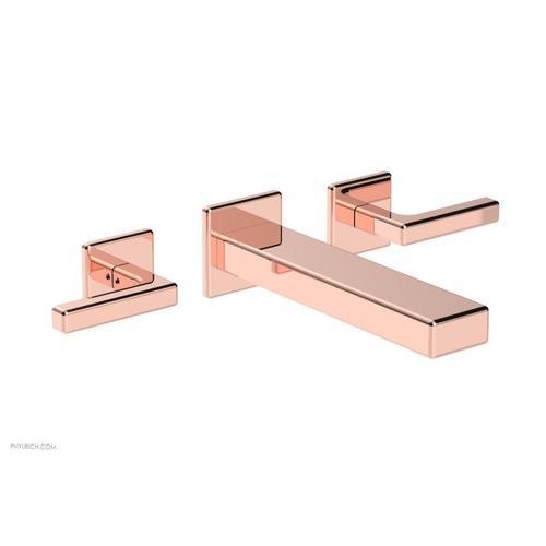 MIX Wall Lavatory Set - Lever Handles 290-12 - Polished Copper