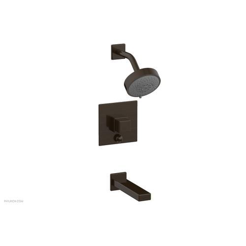 MIX Pressure Balance Tub and Shower Set - Cube Handle 290-29 - Antique Bronze