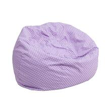 Small Lavender Dot Kids Bean Bag Chair