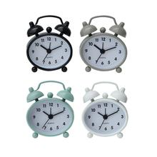 "2-1/4""L x 2-1/2""H Metal Alarm Clock, 4 Colors"