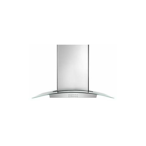 "Product Image - 36"" Modern Glass Island Mount Range Hood - Stainless Steel"