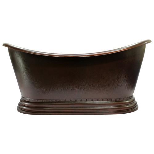 """Celaya 66"""" Copper Double Slipper Tub"""