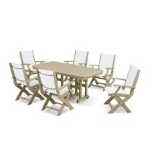 Sand & White Coastal 7-Piece Dining Set