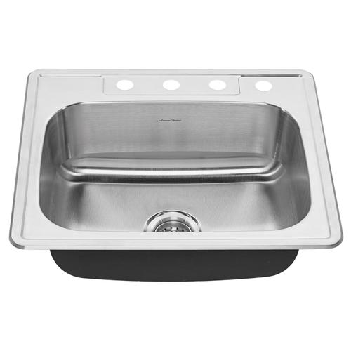 American Standard - Colony Top Mount ADA 25x22 Single Bowl Stainless Steel 3-Hole Kitchen Sink  American Standard - Stainless Steel
