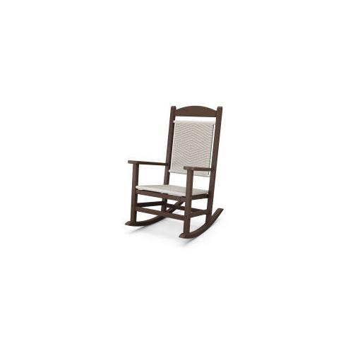 Polywood Furnishings - Presidential Woven Rocking Chair in White Loom