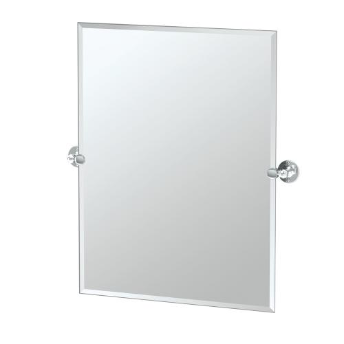 Cafe Rectangle Mirror in Chrome