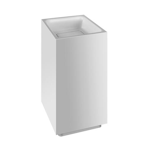 "Freestanding washbasin in Cristalplant® without overflow waste Matte white L 16-9/16"" x W 16-9/16"" x H 35-7/16"" May be drille d on-site to fit for single or 3 hole faucet Wall drainage Grille-plug and syphon included CSA certifiedPlease contact Gessi North America for freight terms"
