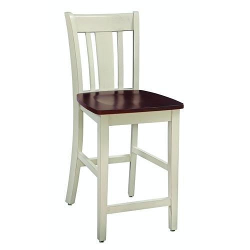 John Thomas Furniture - San Remo Stool in Almond & Espresso
