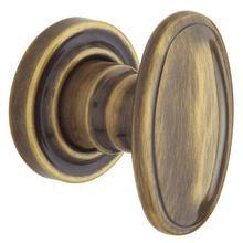 Satin Brass and Black 5057 Estate Knob