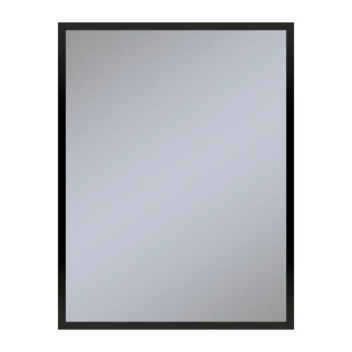 """Profiles 23-1/4"""" X 30"""" X 4"""" Framed Cabinet In Matte Black With Electrical Outlet, Usb Charging Ports, Magnetic Storage Strip and Right Hinge"""