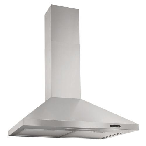 Broan® Elite EW48 Series 36-Inch Pyramidal Chimney Range Hood, 460 Max Blower CFM, Black Stainless Steel