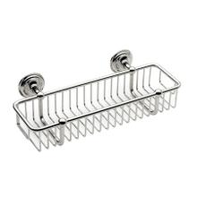 "Polished Chrome 12"" Toiletry Basket"