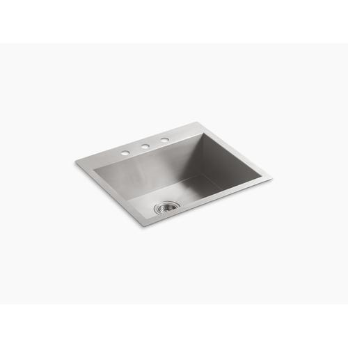 "25"" X 22"" X 9-5/16"" Top-mount/undermount Medium Single-bowl Kitchen Sink With 3 Faucet Holes"