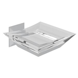 Polished Chrome Vincent Wall Mount Acrylic Soap Dish Product Image