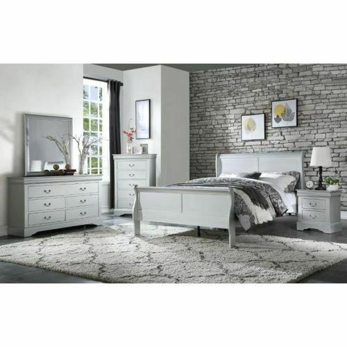 ACME Louis Philippe Queen Bed - 26730Q - Platinum