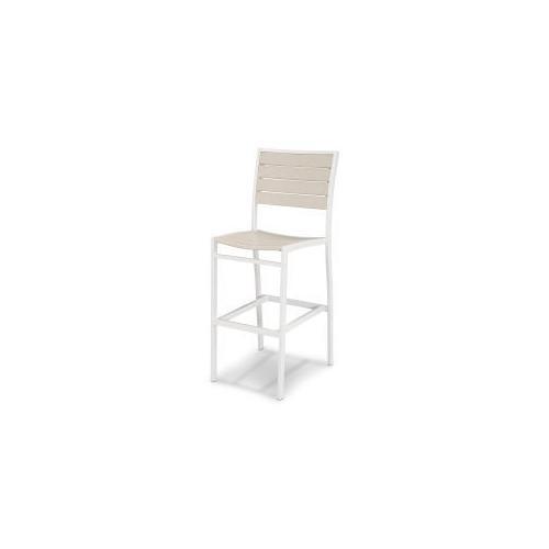 Polywood Furnishings - Eurou2122 Bar Side Chair in Satin White / Sand