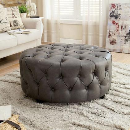 See Details - Latoya Round Ottoman