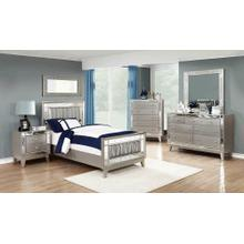Leighton Contemporary Metallic Twin Bed
