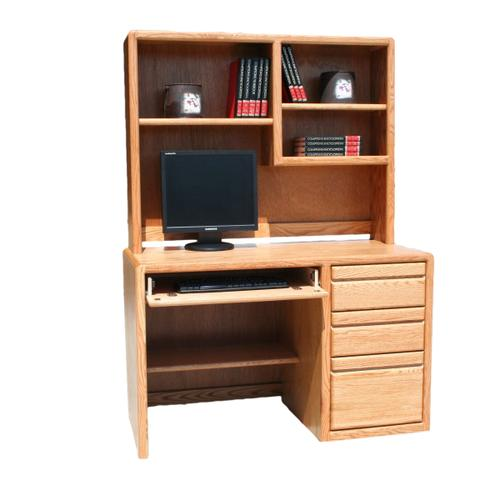 """O-C642 Modern Oak 48"""" 3-Drawer Student Computer Desk"""