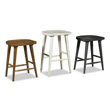 """See Details - 24"""" White Tractor Seat Stool"""