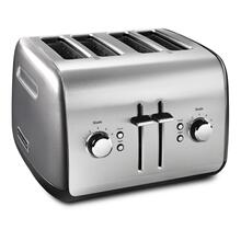 See Details - 4-Slice Toaster with Manual High-Lift Lever Liquid Graphite
