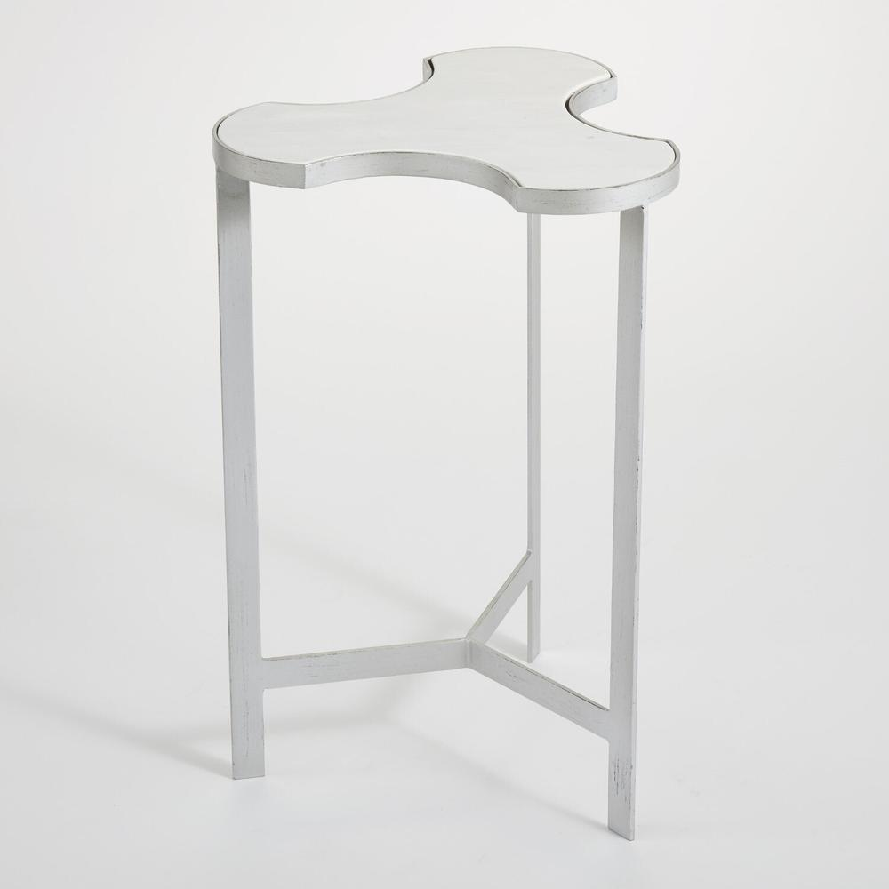 See Details - Link Bunching Table-Silver w/White Marble Top