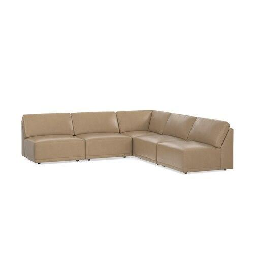 Knox Leather L-Shaped Sectional