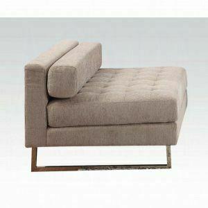 ACME Sampson Armless Chair - 54183 - Beige Fabric