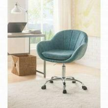 ACME Giolla Office Chair - 92502 - Vintage Turquoise PU & Chrome