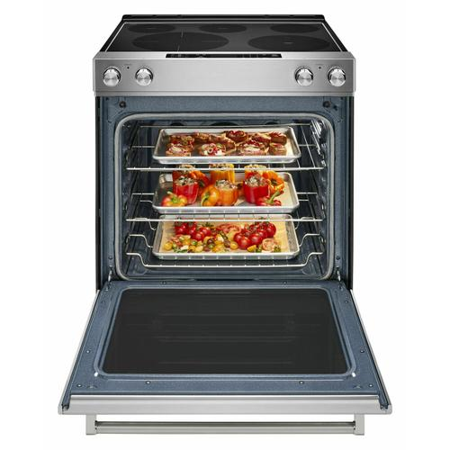 KitchenAid - 30-Inch 5-Element Electric Slide-In Convection Range - Stainless Steel