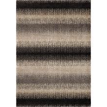 "4310 5x8 Fresco Stripe Black 5'3"" x 7'6"" American Heritage"
